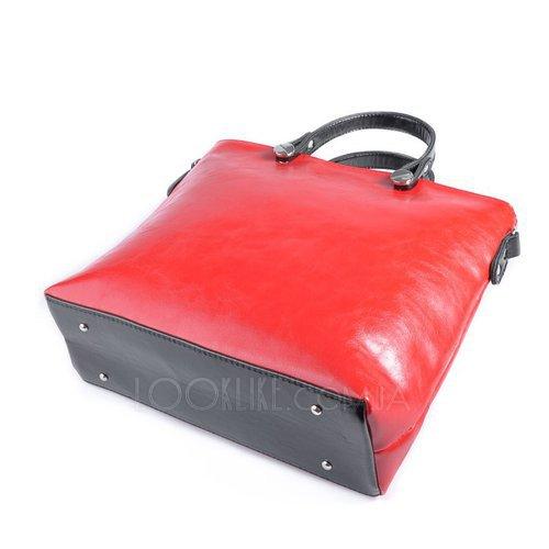 be9338db73f4 Деловая женская сумка модель М61-21/27 красная с черным - купить в ...