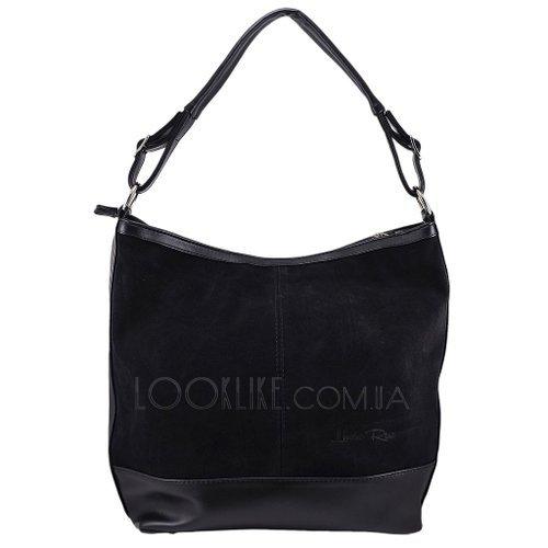 675783459e56 Женская замшевая сумка модель 157 черная - купить в магазине LookLike